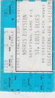 1983 STANLEY CUP PLAYOFFS ticket stub ST LOIUS BLUES vs CHICAGO BLACKHAWKS