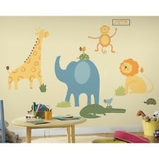 ZOO ANIMALS Giant Mural Wall Stickers Decals - Removable Vinyl Appliques Giraffe