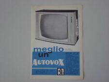 advertising Pubblicità 1960 TELEVISORE AUTOVOX 891