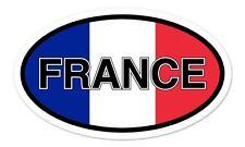 """France Flag Oval car window bumper sticker decal 5"""" x 3"""""""