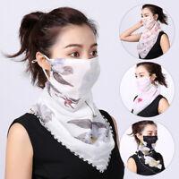 Women Bandana Chiffon Face Cover Neck Tube Scarf Shield Summer Outdoor Protector