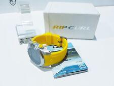 Rip Curl Surfing Yellow Sport Watch WorldTime Compass Moon&Tide Sunset/Sunrise