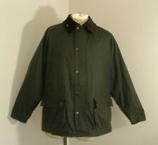 Mens BARBOUR BEDALE A320 Waxed Cotton Flannel Lined OILSKIN Jacket 42