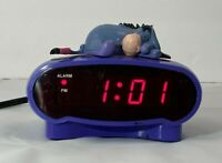 Walt Disney Eeyore LED Alarm Clock Vintage WORKS Depressed Donkey Hard to Find