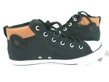 New listing Converse Chuck Taylor All Star Street Mid Top Black/Warm Tan Men Sz 10.5 165389F