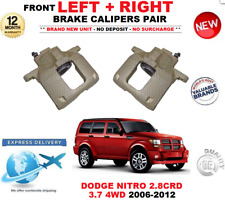 FOR DODGE NITRO 2006-2012 FRONT LEFT and RIGHT BRAKE CALIPERS SET 2.8 3.7 4WD