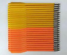 24PK Plastic Yellow Orange Arrows Bolts 50~80lbs Hunting Darts Crossbow Mini Bow