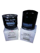 GENUINE FUEL & OIL FILTER MITSUBISHI TRITON DIESEL 4D56 2.5L 1770A373 & MZ690411