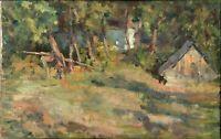 """Russischer Realist Expressionist Öl Leinwand """"Sonniger Tag"""" 60x38 cm"""