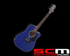 RRP$569 Takamine ED2DC BLU Acoustic Electric Guitar Cutaway Blue Mahogany