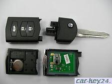 Mazda 2 3 5 6 CX-7 RX-8 BT50 CX-5 CX-9 Fernbedienung Schlüssel 3 Tasten komplett