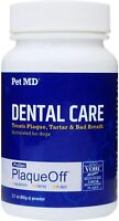 Pet MD Proden PlaqueOff Dog Dental Care Powder - Oral Care Dog Teeth Cleaning Su