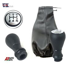 5 Speed Car Shift Knob Gear Stick & Gaiter Cover Shifter For Peugeot 107 207 407
