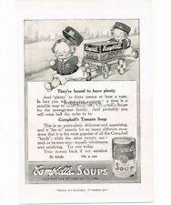 1915 Campbell's Soups Tomato Kids Vtg Print Ad