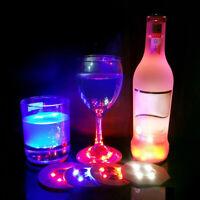 5 X LED Random Colour Light Up Coasters Drinks Mat Base Beer Bottle Vase PARTY