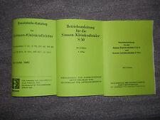 Betiebsanleitung & Ersatzteil-Katalog Simson S50, S51, S70 usw.
