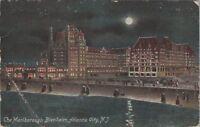 Vintage Postcard Post Card Marlborough Blenheim Hotel Atlantic City Beach Moon