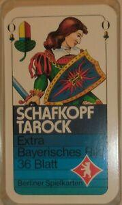 SPIELKARTEN = Schafkopf / Tarok (Extra Bayerisches Bild)