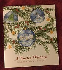OBAMA CHRISTMAS 2015 HOLIDAY WHITE HOUSE TOUR BOOK CARD SIGNED FACSIMILE