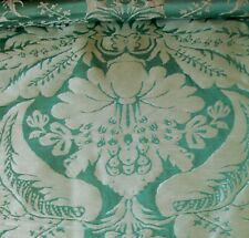 """Scalamandre Silk Sea Green Fabric 44""""Long 53"""" Wide New for Upholstery or Pillows"""