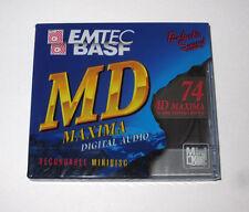 "One (1) Minidisc BASF MD ""MAXIMA"" MD-74 '1999 (new and sealed)"