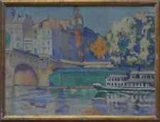 Peintures du XXe siècle et contemporaines huile sur panneau en architecture
