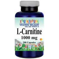 L-Carnitine 1000mg (Free Form) 200 capsules by Vitamins Because