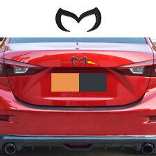 fit FOR Mazda6 Mazda3 carbon fiber EVIL M BATMAN REAR TRUNK EMBLEM BADGE LOGO