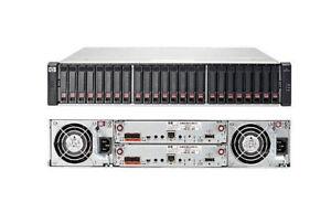 """HP MSA 1040 Modular Smart Array SAN Dual iSCSI Controller E7W02A 24x 2.5"""" Bay"""