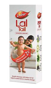 Dabur Lal Tail Ayurvedic Medicine Baby Massage Oil Stronger Bones Muscles Herbal