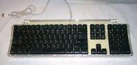 Vintage Apple Macintosh M7803 Pro Keyboard Silver / Clear USB