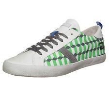 D.A.T.E. DATE HILL LOW FANTASY Scarpe da ginnastica Zig Zag Uomini Scarpe Casual Verde Bianco 8