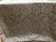 5 Mts Classic Green Floral  Damask Brocade Curtain Fabric