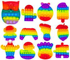 Push Pop Bubble Spielzeug Regenbogen Fidget Toy Set Popper Kinder Antistress