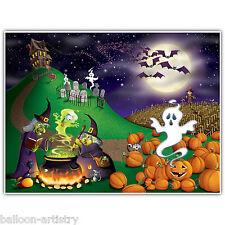 6ft Embrujada Fiesta De Halloween Spooky Night Scene Setter mural de pared Decoración