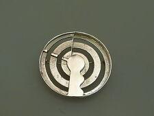 Designer Broche Argent 925 Modernist punziert intemporelle forme sterling brooch