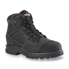 Craftsman Mens Theo Waterproof Black Steel Toe Work Boot Oil Slip Resistant wide