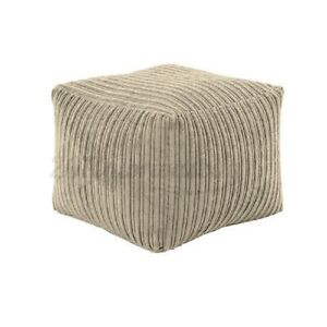 Seat Footstools Foot Rest Stool Pouffe Ottoman Corduroy Furniture Beanbag Cover