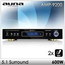 AUNA 5.1 HIFI RECEIVER SURROUND VOLLVERSTÄRKER PA KARAOKE AMPLIFIER AMP 600W