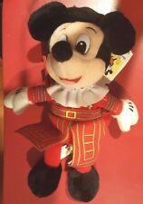 Disney English Mickey Mouse  Bean Bag Beanie w/tags Beefeater Queen Elizabeth