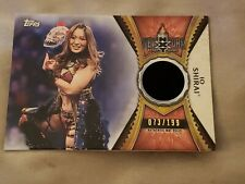 IO SHIRAI  2020 TOPPS WWE ROAD WRESTLEMANIA NXT TAKEOVER NYC MAT RELIC #073/199
