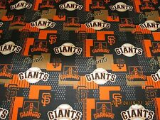 "SAN FRANCISCO GIANTS FABRIC MLB 100% COTTON 1YD PIECE NEW DESIGN ""GO GIANTS""  #3"