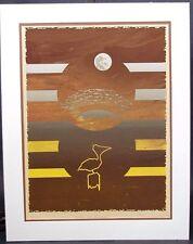 """VTG Larry Kirkwood Signed Serigraph Ltd Ed """" Nocturnal Masquerade """" 1976"""