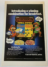 1989 Nintendo Cereal System ad page ~ SUPER MARIO BROS, LEGEND OF ZELDA