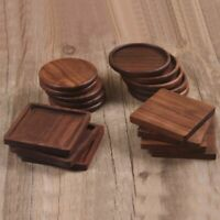 Wooden Coasters Non-slip Heat Resistant Durable Coffee Square Insulated Wood