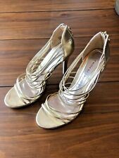 Chinese Laundry Gold Strappy Heels, Women's Size 9