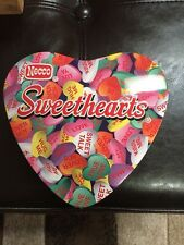 NECCO Valentine's Sweethearts Conversation Small Heart Candy Tin Container