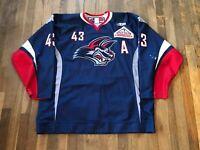 Benoit Doucet Game Used Worn Elmira Jackals Jersey AHL NHL ECHL Tigres Giants