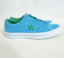 Converse One Star Woodmark FX Pinstripe Medium Blue Green Hawaiian Jolly Sz  10.5 53ff1108b