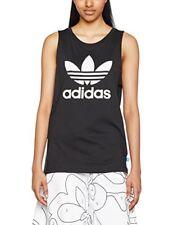 Adidas Originals loose Trefoil Tank Tops 36-black